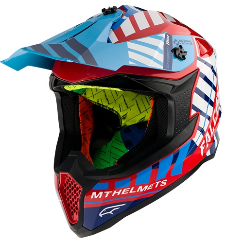 Шлем MT Falcon Energy Blue/Red/White