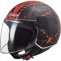 Шлем LS2 OF558 Sphere Lux Snake Black/Red